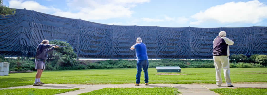 Shot-Shield - screening system to stop lead shot from exiting clay target shooting ranges